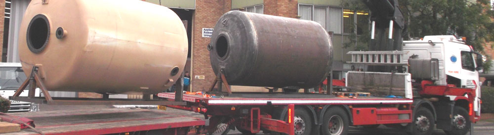 Transportation of rubber lined vessels for the water treatment industry